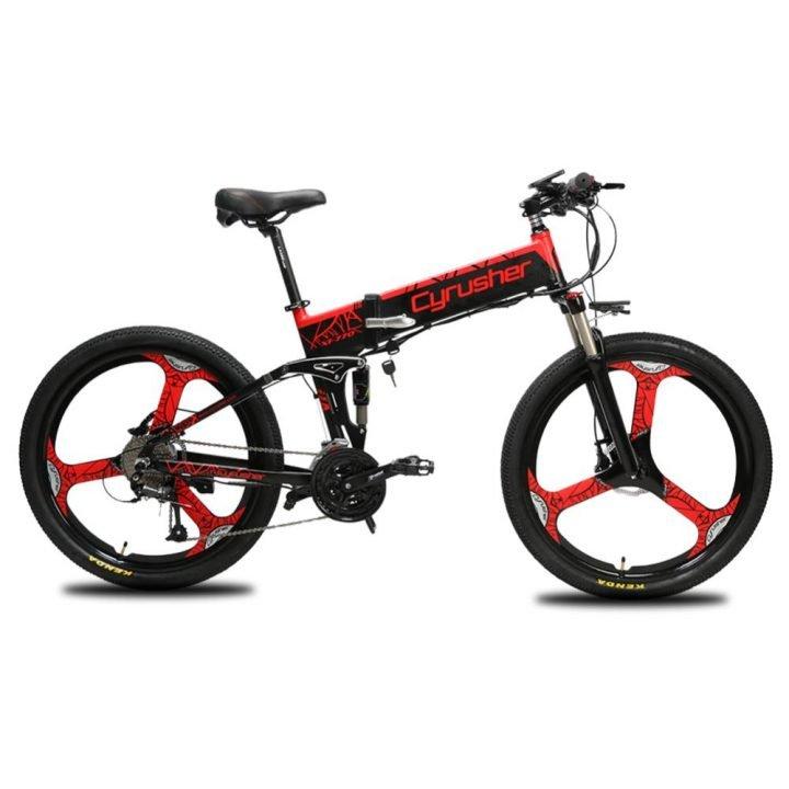 xf770 folding electric mountain bike full suspensi 11653